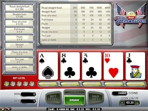 all maerican videopoker